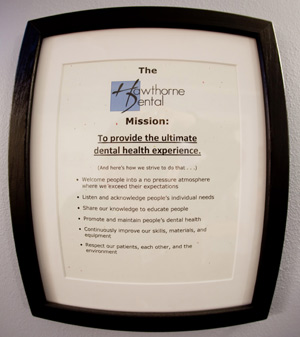 Hawthorne Dental Mission Statement